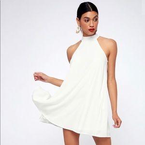 Lulus white halter swing dress
